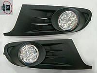 Фары противотуманные с LED на Фольксваген Гольф 6