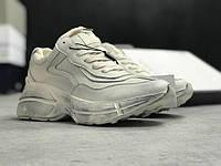 Женские кроссовки Gucci Retro белые с оттенком грязи. Живое фото (кроссовки гучи)
