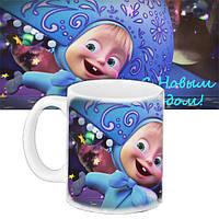 Детская чашка с принтом Маша С Новым годом