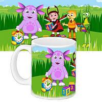 Детская чашка с принтом Мультфильм Лунтик