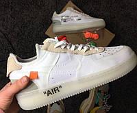 "Кроссовки Nike air force 1 low ""Off-White"". Живое фото (Реплика ААА+)"