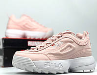"Кроссовки Fila Disruptor II ""pink"". Натуральная замша.  Живое фото (Реплика ААА+)"