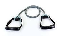 Эспандер трубчатый с ручками PS (латекс. жгут,d-15x4мм, l-110см, ручка пластик, серый), фото 1