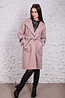 Стильное женское кашемировое пальто на запах от производителя модель весна 2018 - (рр-74), фото 3