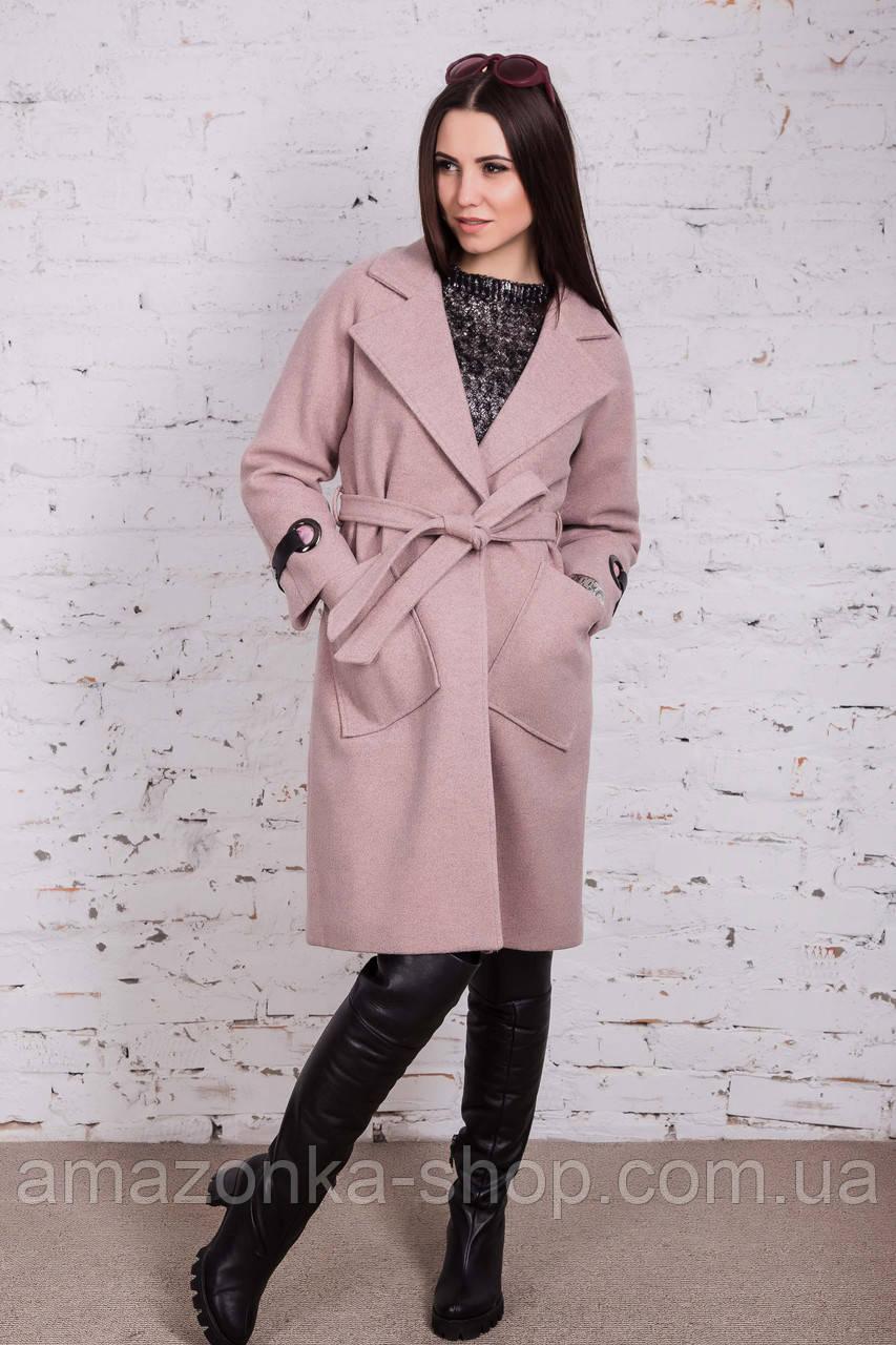6c23b81a93eb Стильное женское кашемировое пальто на запах от производителя модель весна  2018 - ...