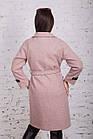 Стильное женское кашемировое пальто на запах от производителя модель весна 2018 - (рр-74), фото 4