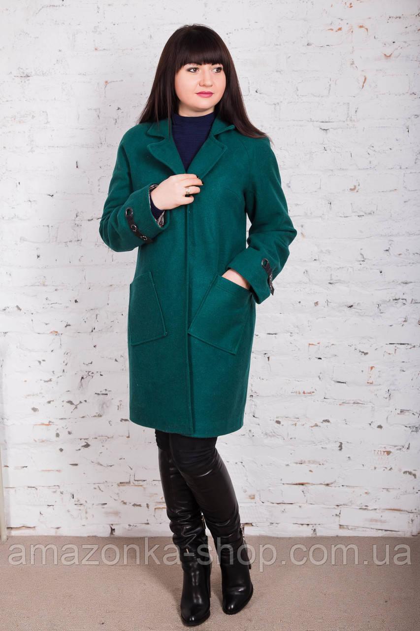 Стильное женское кашемировое пальто на запах от производителя модель весна 2018 - (рр-74)