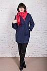 Стильное женское кашемировое пальто на запах от производителя модель весна 2018 - (рр-74), фото 5