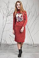 Модное стильное теплое платье из ангоры 123
