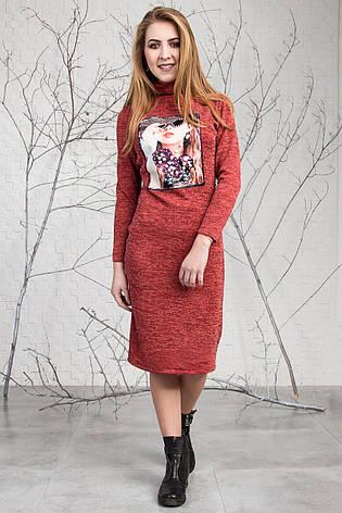Модное стильное теплое платье из ангоры 123, фото 2