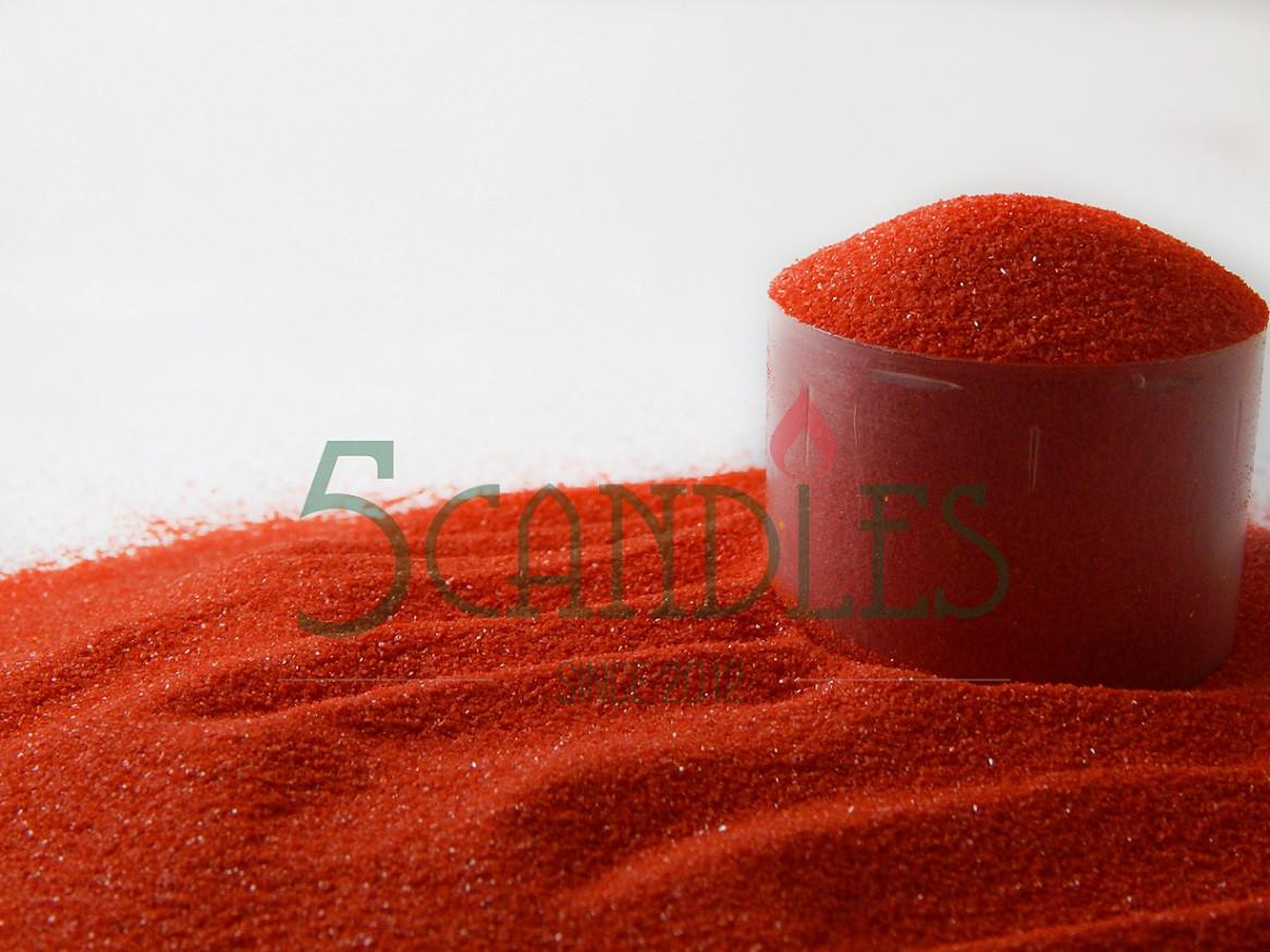 Песок цветной для творчества (красный) 1 кг
