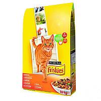 Friskies (ФРИСКИС) Purina сухой корм для кошек с курицей и овощами 10КГ