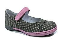 Туфельки для девочки серые. Размеры 30