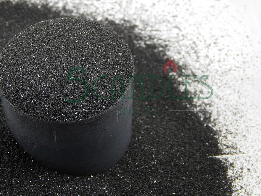 Песок цветной для творчества (черный) 1 кг