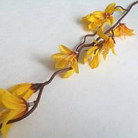 Веточка весеннего первоцвета 50 см_ЖЕЛТЫЙ , фото 1