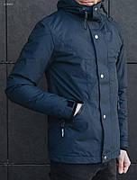 Синяя мужская весенняя куртка  Staf oliver navy ХС С М
