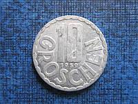 Монета 10 грошен Австрия 1959