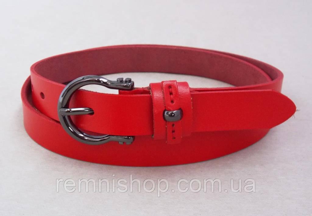Красный кожаный тонкий ремень женский ремень ширина 5 см