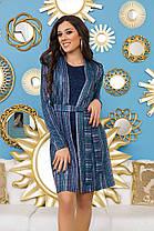 И5027 Платье с кардиганом в полоску, фото 2