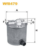 Фильтр топливный Nissan Qashqai; Renault Koleos (производство WIX-Filtron), ADHZX