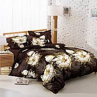 Двуспальный комплект постельного белья 180*220 сатин (9010) TM KRISPOL Украина