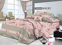 Двуспальный комплект постельного белья евро 200*220 сатин (9025) TM KRISPOL Украина