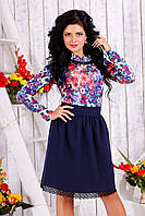 Молодёжное женское платье с кружевом, фото 1