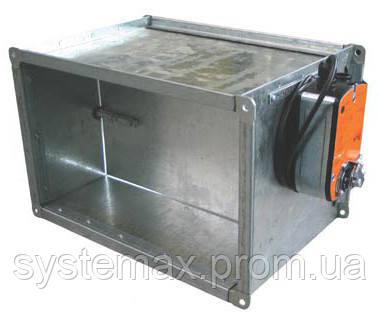 Заслонка прямоугольная АЗД 190.000-06 (800х800 мм) с электроприводом Belimo, фото 2