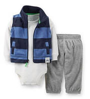Флисовый костюм-тройка Carter's (США) 12мес, 18мес, 24 мес
