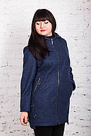 Женское пальто батального размера от AMAZONKA модель весна 2018 - (рр-76)