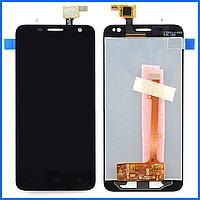 Дисплей (экран) для Alcatel 6012 Onetouch Idol Mini,6012A,6012D,6012W,6012X,6012E с тачскрином в сборе, черный