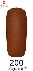 Гель-лак F.O.X 200 Pigment коричневый, 6 мл