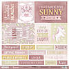 Бумага для скрапбукинга Unicorns, Карточки (ENG), 30х30 см