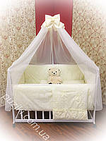 Комплект детского постельного белья 9 в 1 TM Bonna кремового цвета с узором