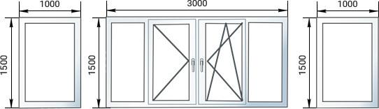 Окна на балконСтандарт