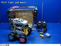УЦЕНКА-40% Машина аккум р/у пульт на батар.,музыка,(НЕ ТОВАРНЫЙ ВИД УПАКОВКИ)в кор.21*10см