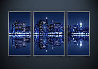 """Схема для вышивки бисером """"Ночной Нью-Йорк """""""
