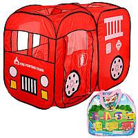 Палатка большая детская игровая Автобус Пожарная машина, размер 128-91-58 см, M 1401