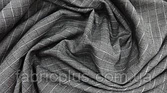 Костюмная ткань клетка серая
