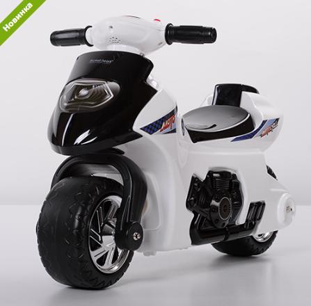 Детская толокар-мотоцикл  Bambi 617-1 белая  ***