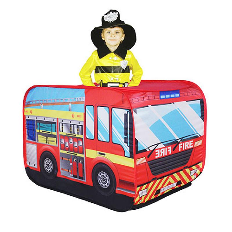 Палатка детская игровая Автобус Пожарная машина, размер 110-70-70 см,  M 3318