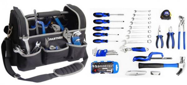 Набор инструментов 1/4', 63 предмета в сумке // Partner PA-5063 код. 4430
