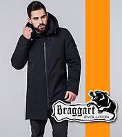 Braggart 6009 | Мужская ветровка весна-осень черный