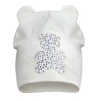 Белая трикотажная шапочка