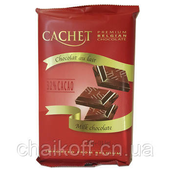 Шоколад молочный премиум CACHET 32% Milk Chocolate, 300 г