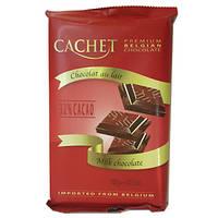 Шоколад молочный премиум CACHET 32% Milk Chocolate, 300 г, фото 1
