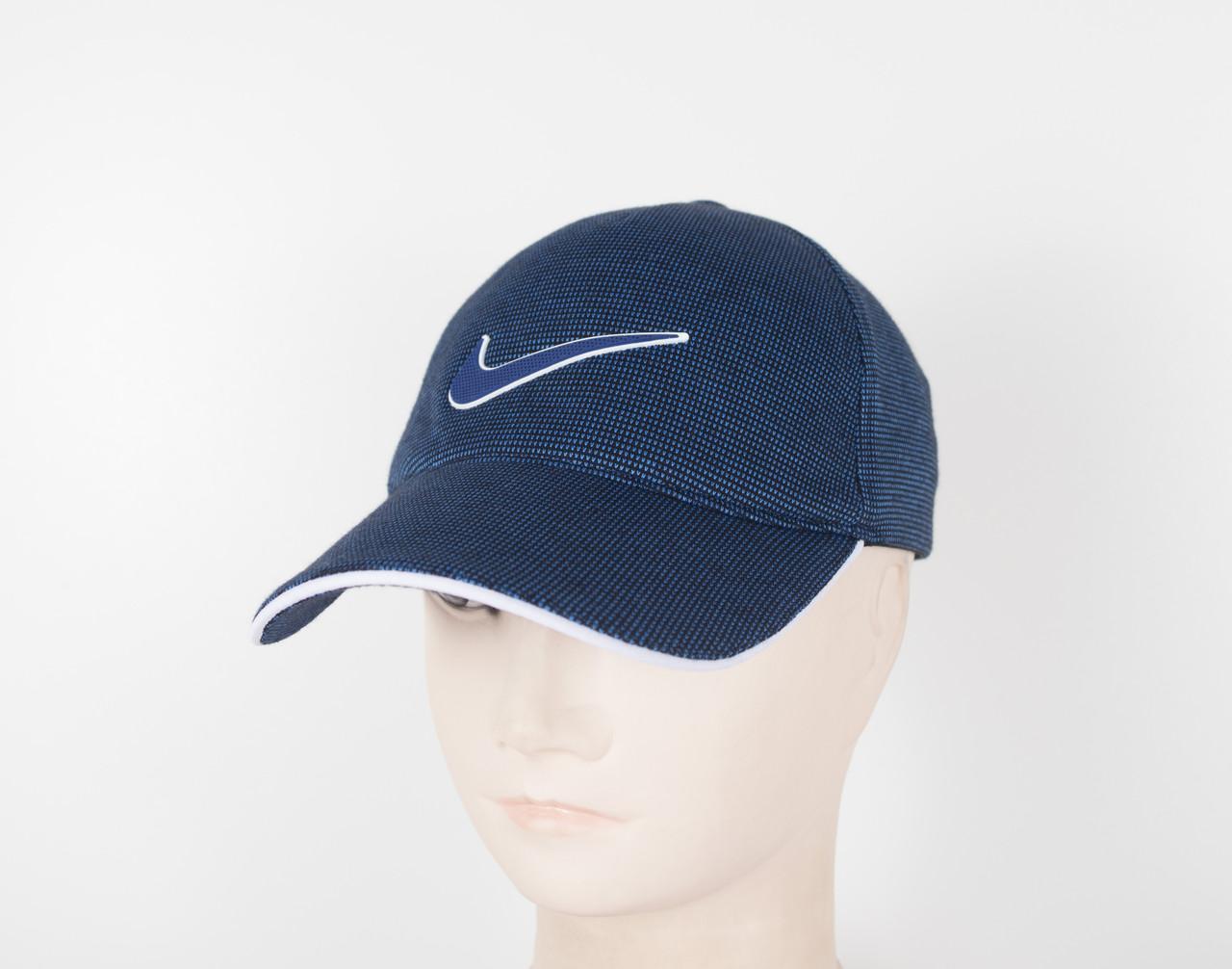 "Бейсболка резинка ""Точки Nike"" 5 клинка Син"