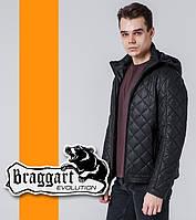 Braggart 7034 | Весенне-осенняя мужская ветровка черный