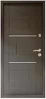 Дверь метал. ТМ Riccardi 2050х860 Куб лев. Венге