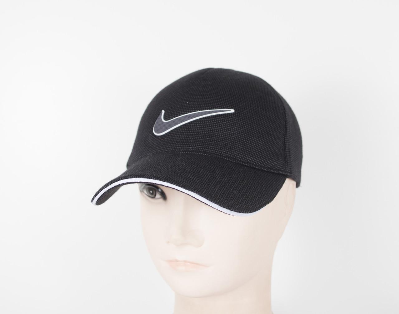 """Бейсболка резинка """"Точки Nike"""" 5 клинка Чер"""
